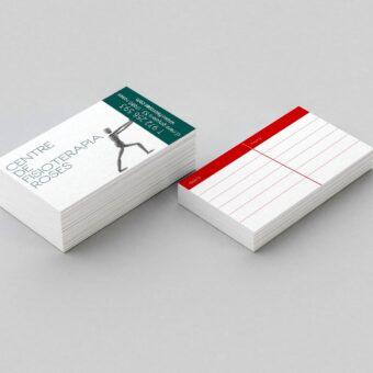 CENTREDEFISIOTERAPIAROSES 340x340 - Tarjetas de visita simples clásicas