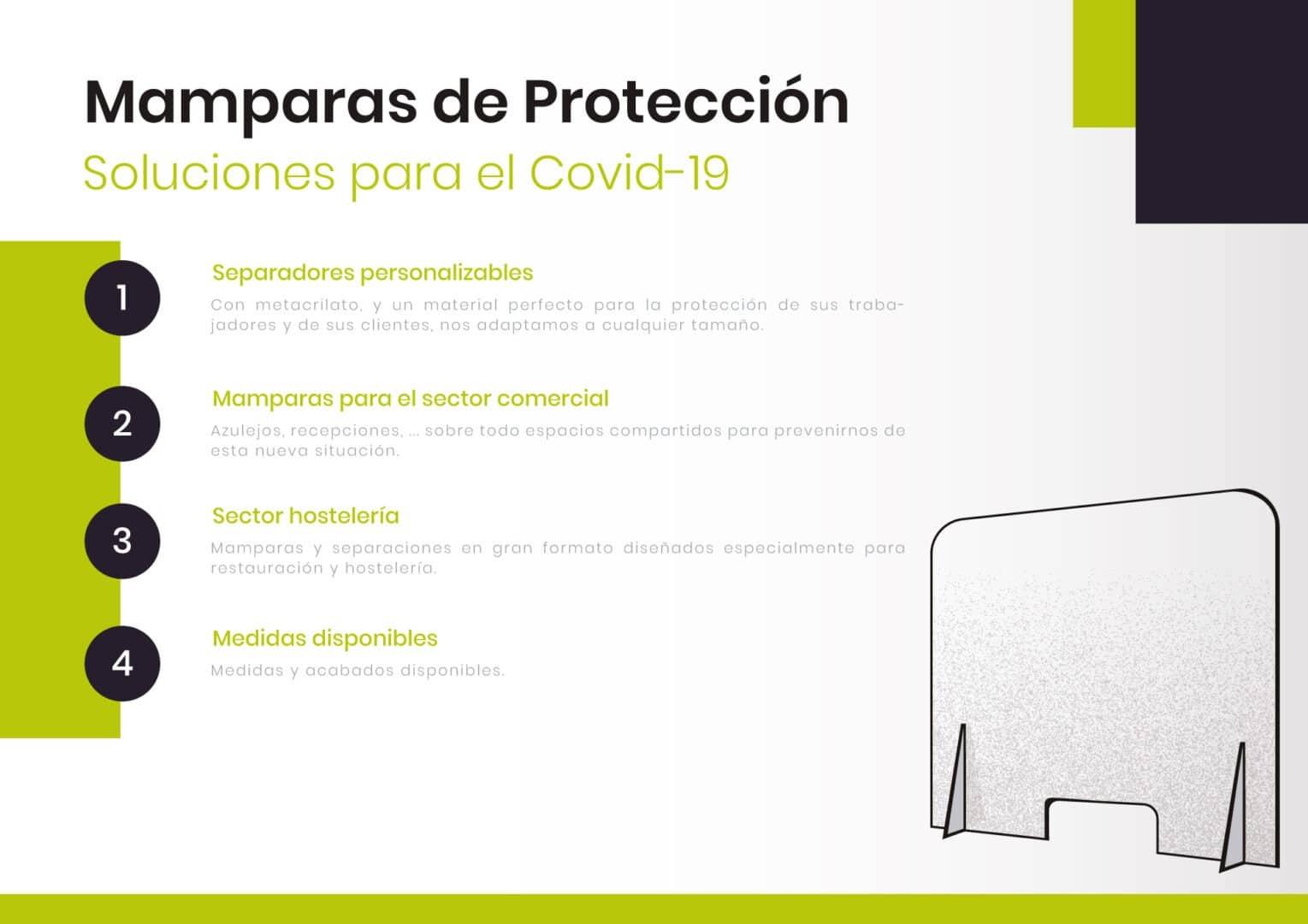 1 - Mamparas de Protección de metraquilato 3mm, 5mm y 8mm
