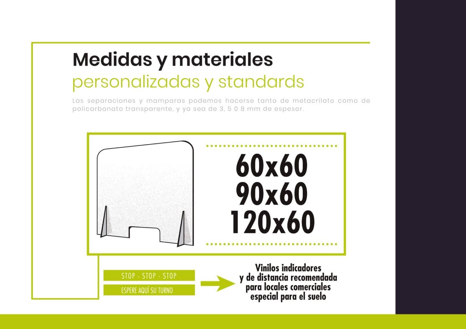 5 - Mamparas de Protección de metraquilato 3mm, 5mm y 8mm